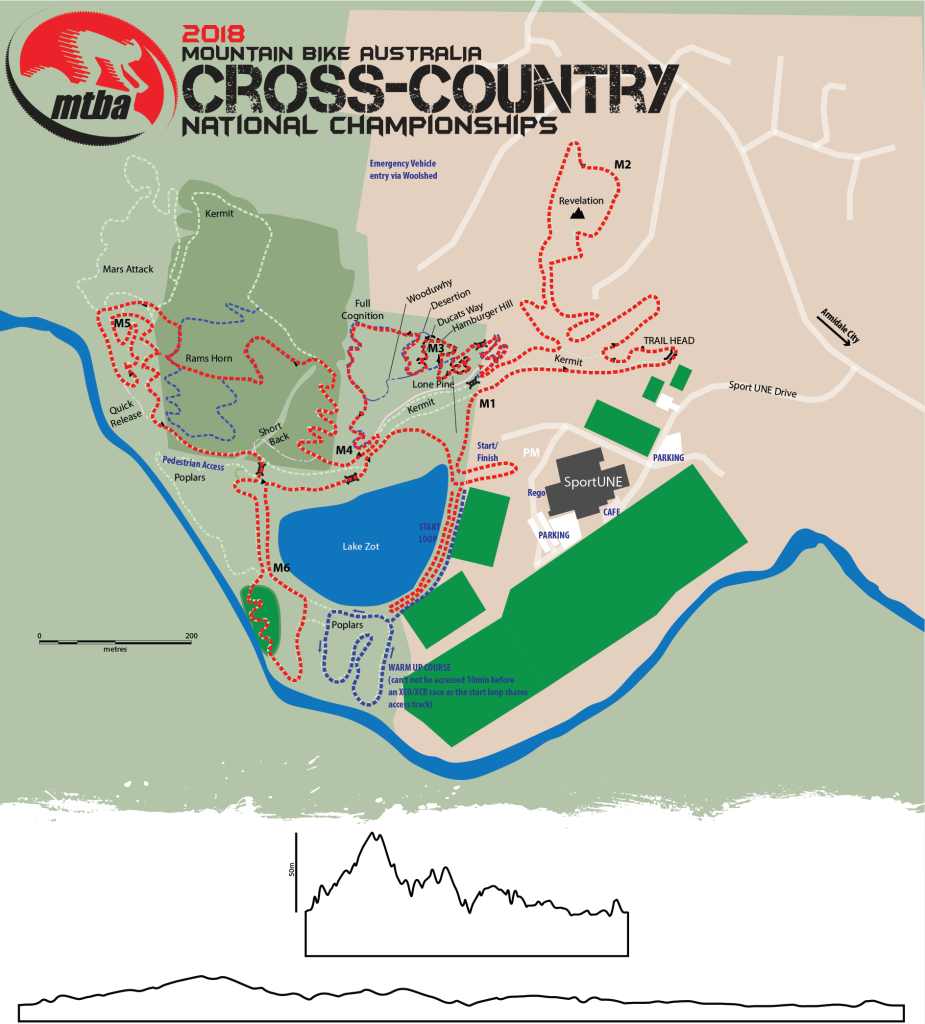 2018 Cross-Country National Championship Course Map - Feb 2018