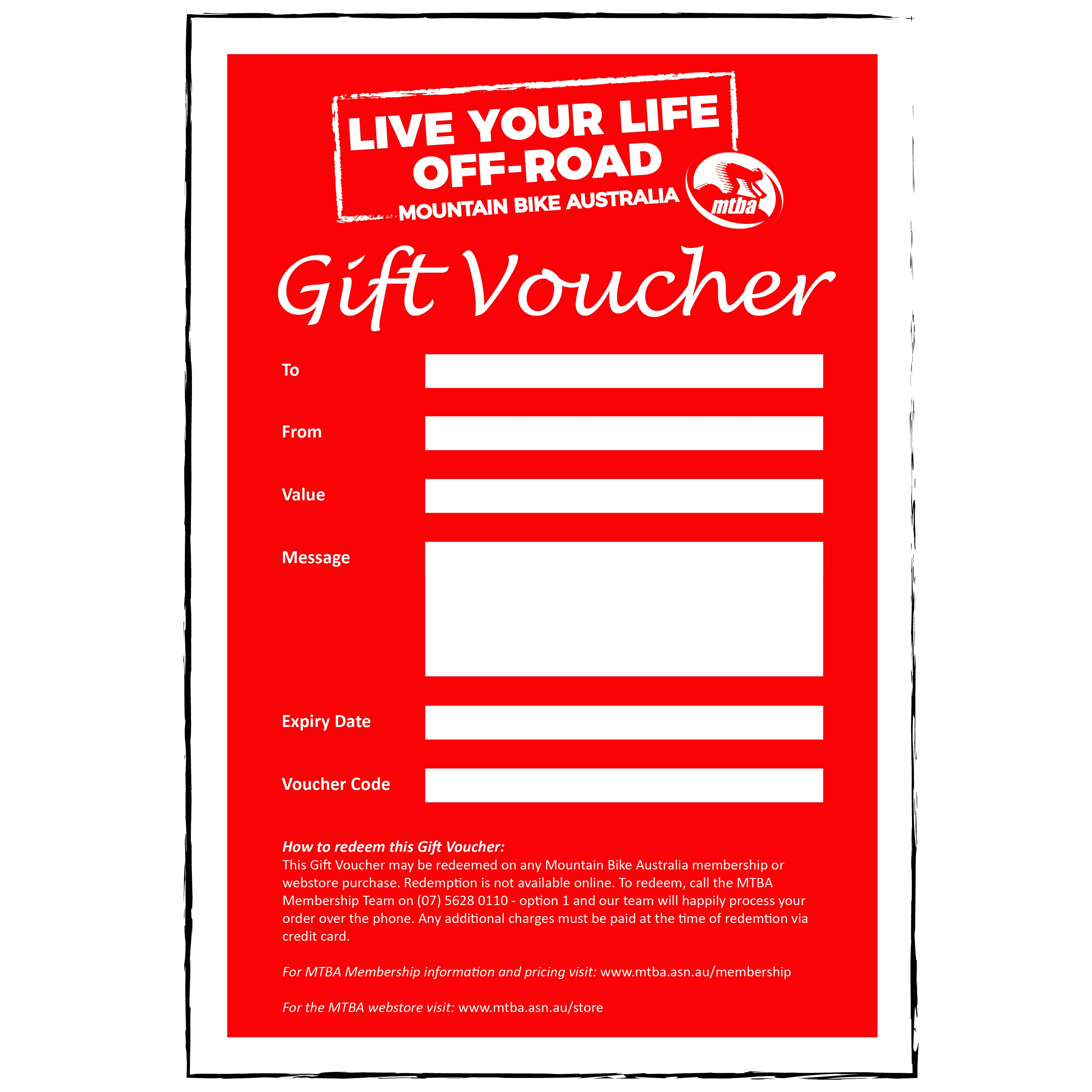 12. Gift Vouchers & Gift Packages